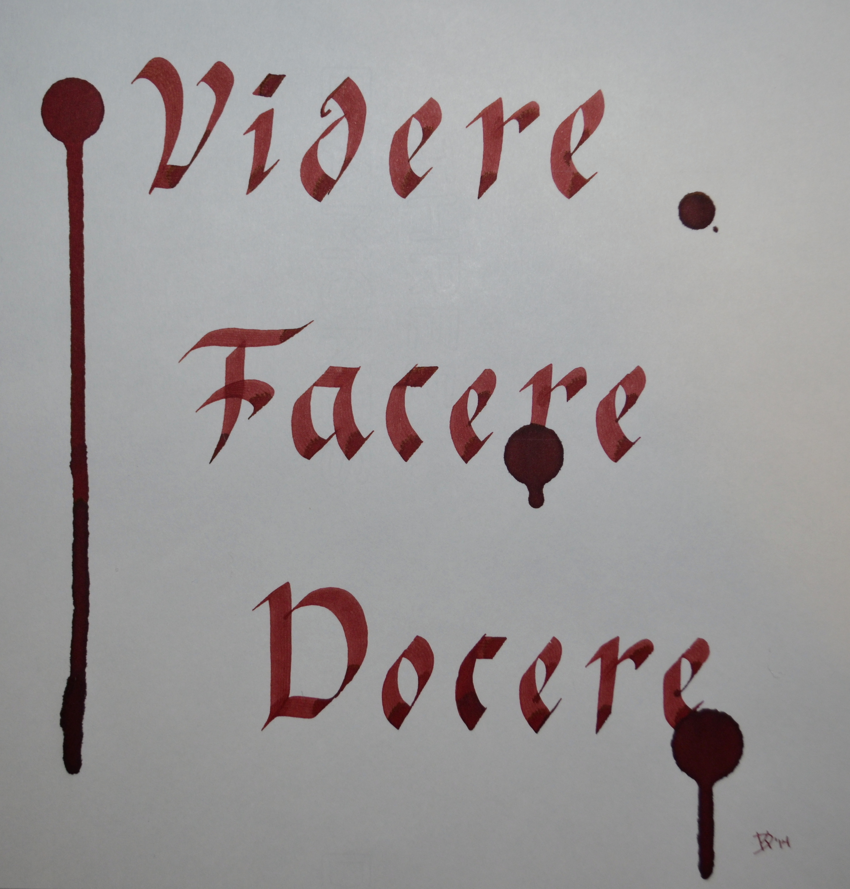 Diamine Oxblood Review Ink Reviews The Fountain Pen